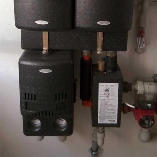 Подключение насосов подачи воды