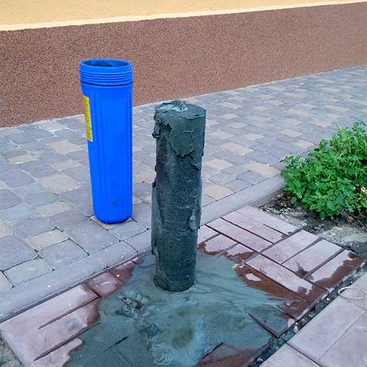Обслуживание промышленного фильтра воды