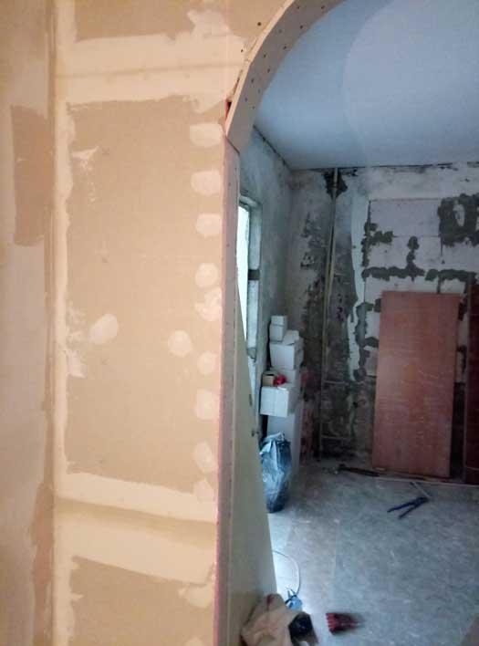 Монтаж гипсокартона в процессе ремонта квартиры под ключ