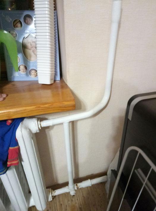 Установка крана байпас для радиатора