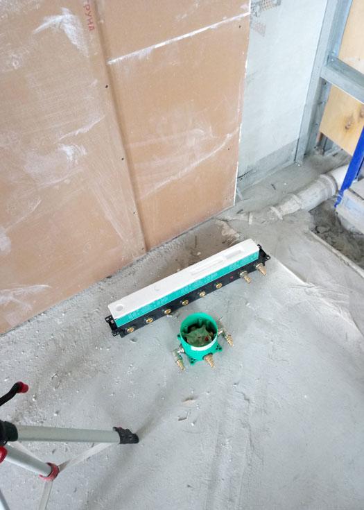 Установка смесителей скрытого монтажа