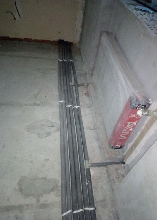Монтаж системы отопления HERZ и водоснабжения в санузле в новостройке под ключ после строителей